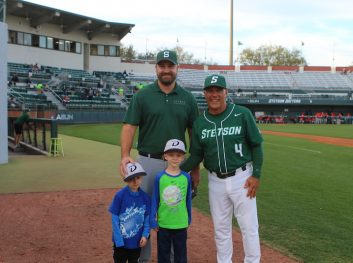 Dr. Brandon Steen Throws Out First Pitch at Stetson Game